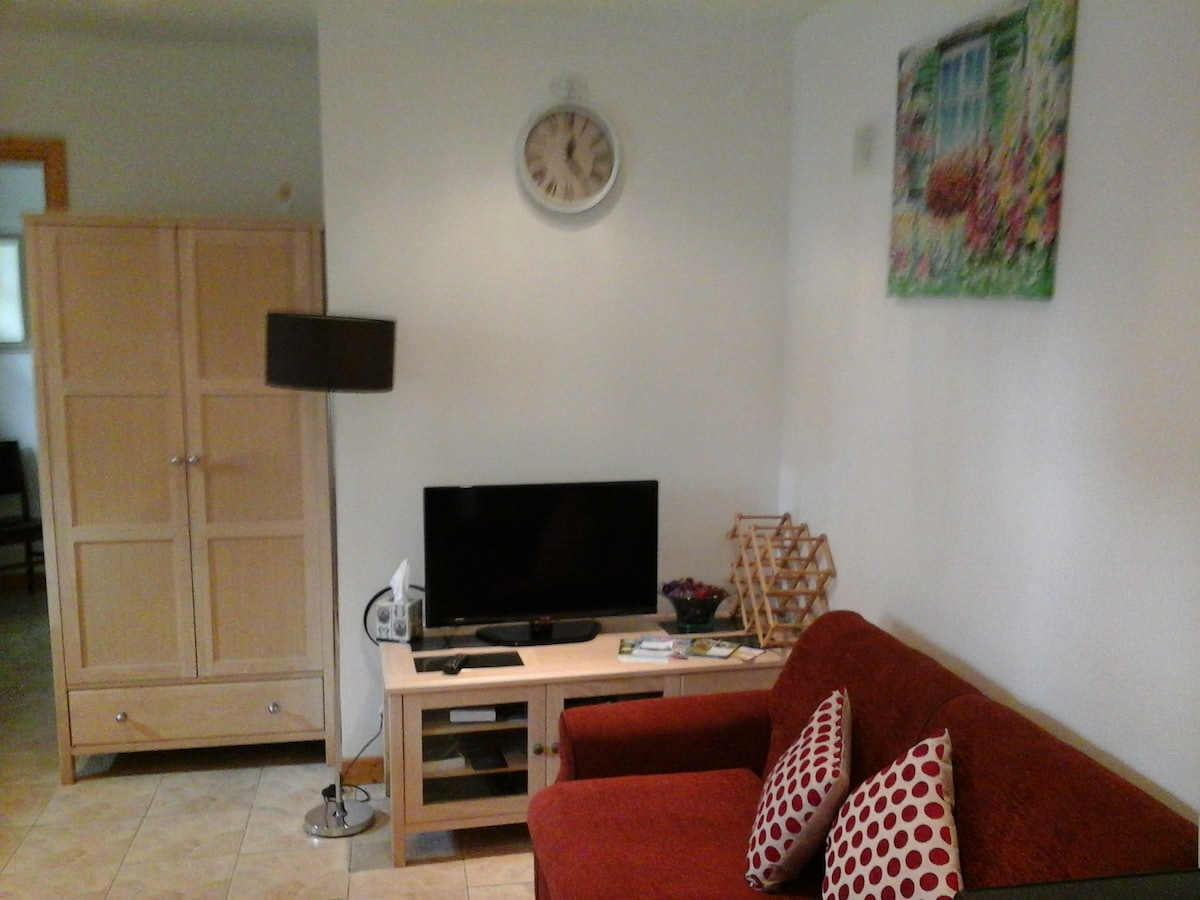 Relax in living room with cable tv and wifi