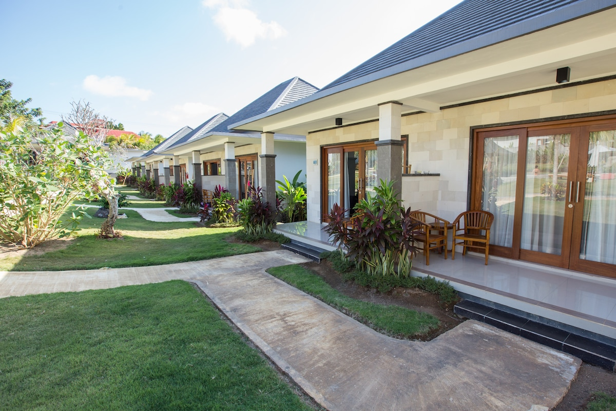 These are your bungalows. They're brand new.