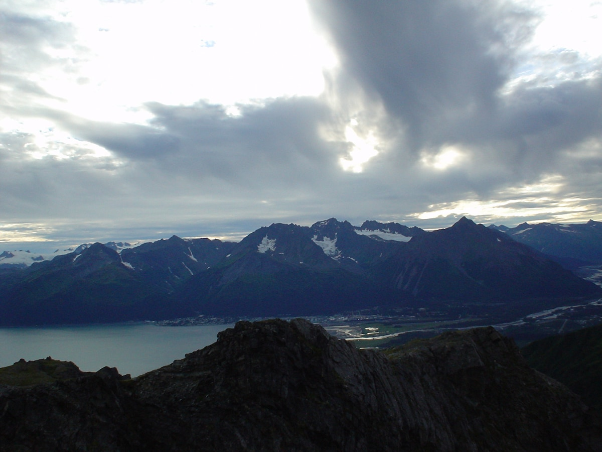 View of Seward from Mount Alice, a great hiking trail nearby.
