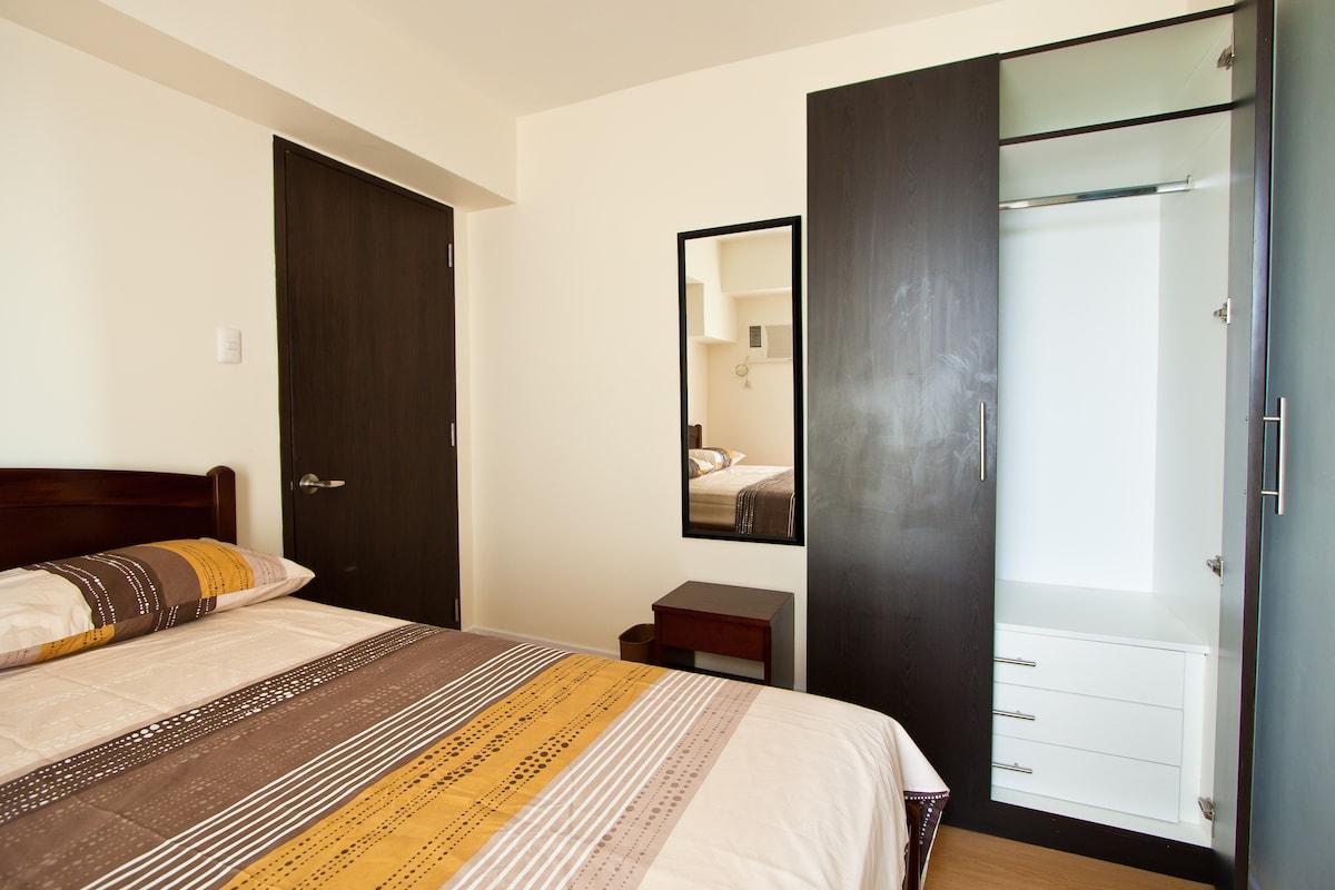 Closet and vanity area