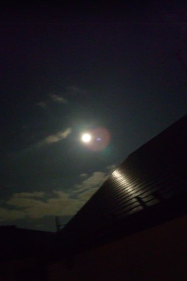 Moon From the Window of Futon Room