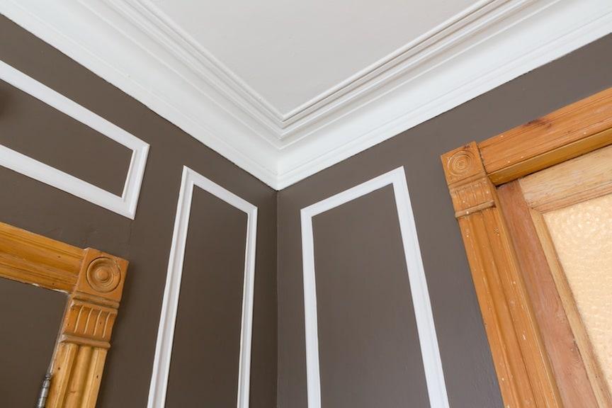 Original wood and plaster moldings