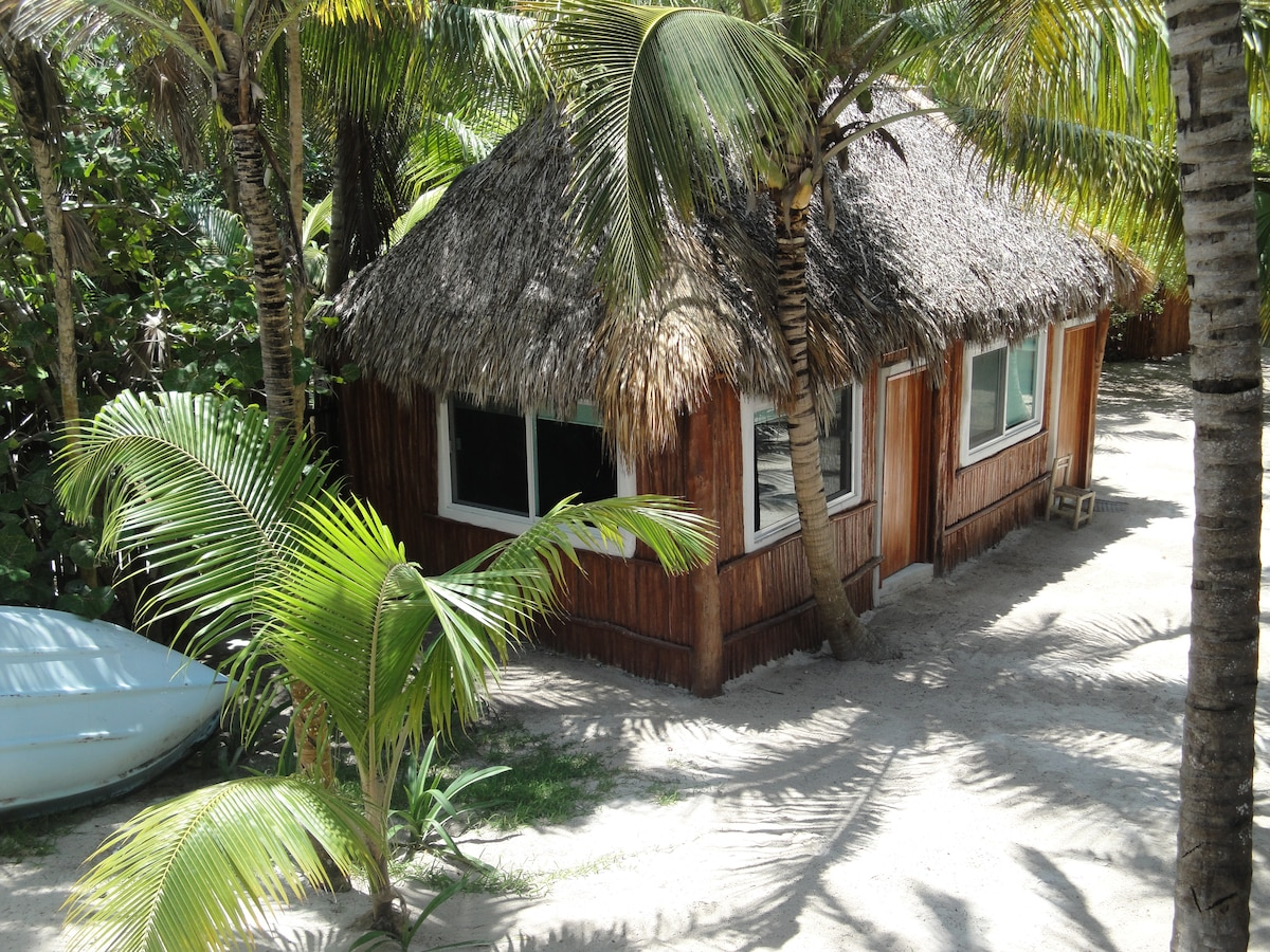 Rusic cabanas on private property