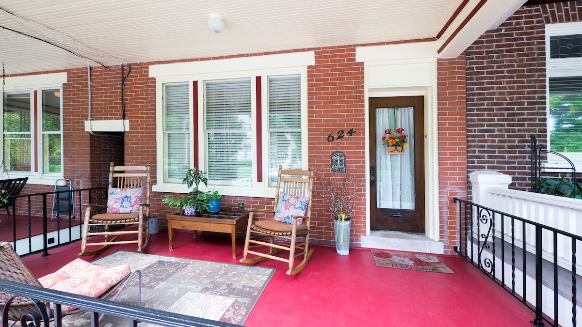Front Porch with Rockers--Welcome!