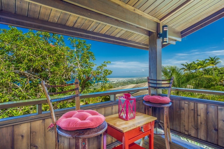 Enjoy morning coffee or evening cocktails with a view.