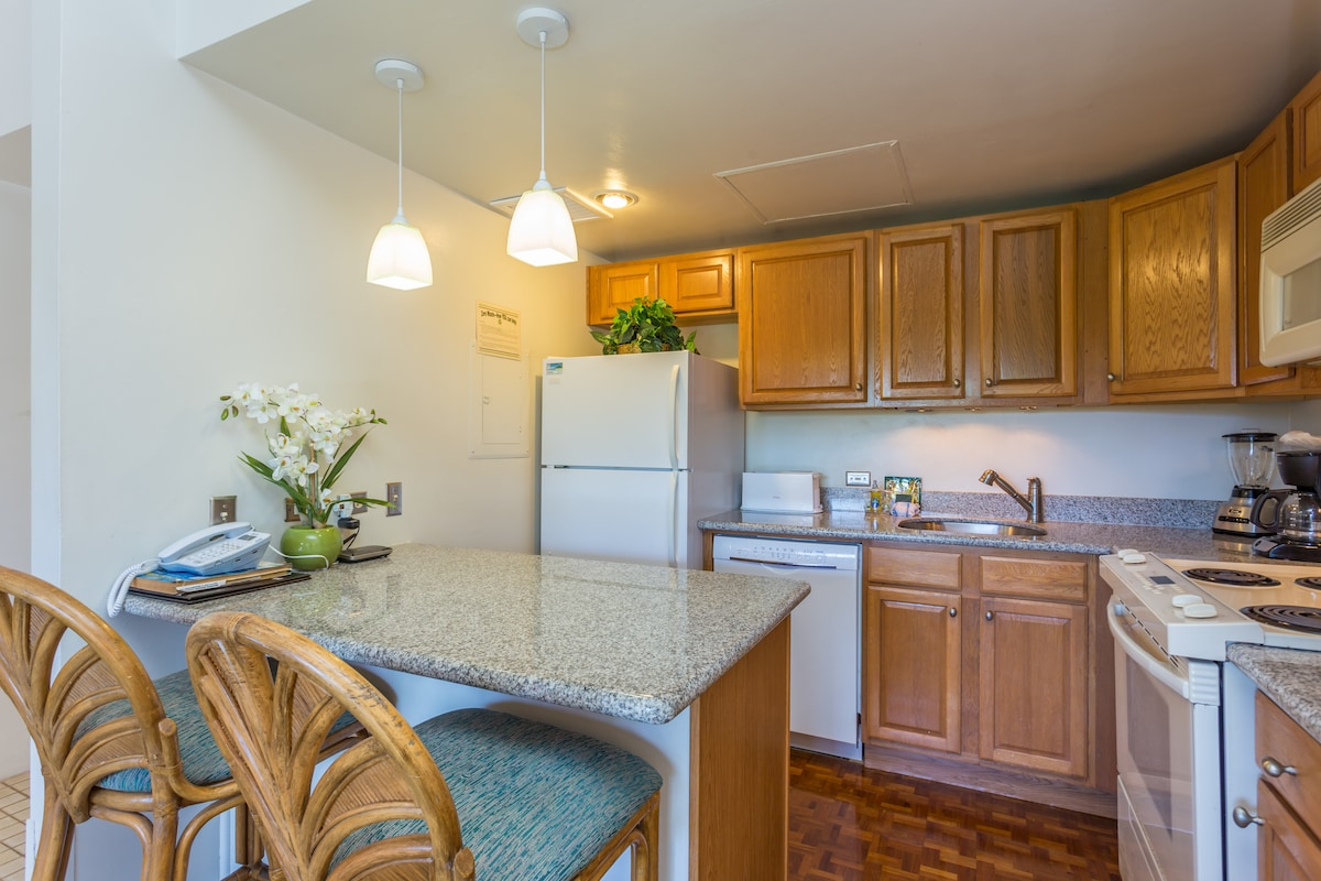 Full size Kitchen, with full-sized applances.