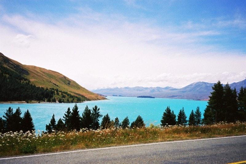 Stunning turqoise waters of Lake Tekapo