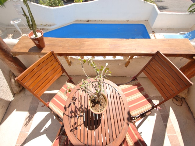 Relax on the terrace overlooking the pool!