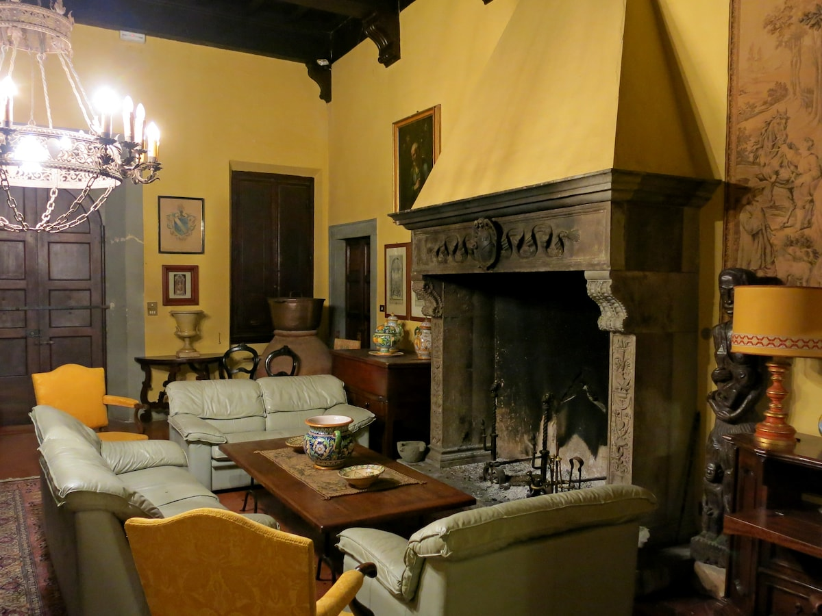 Fireplace in the '500 Main Hall