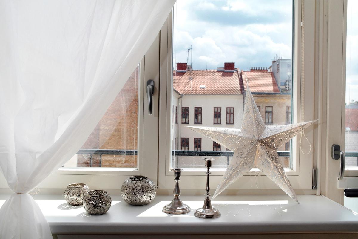Brno very central - charming room !