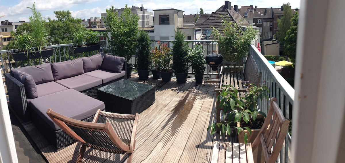 Maisonette with rooftop terrace