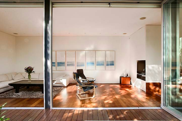 Living Room with cinema sound system.