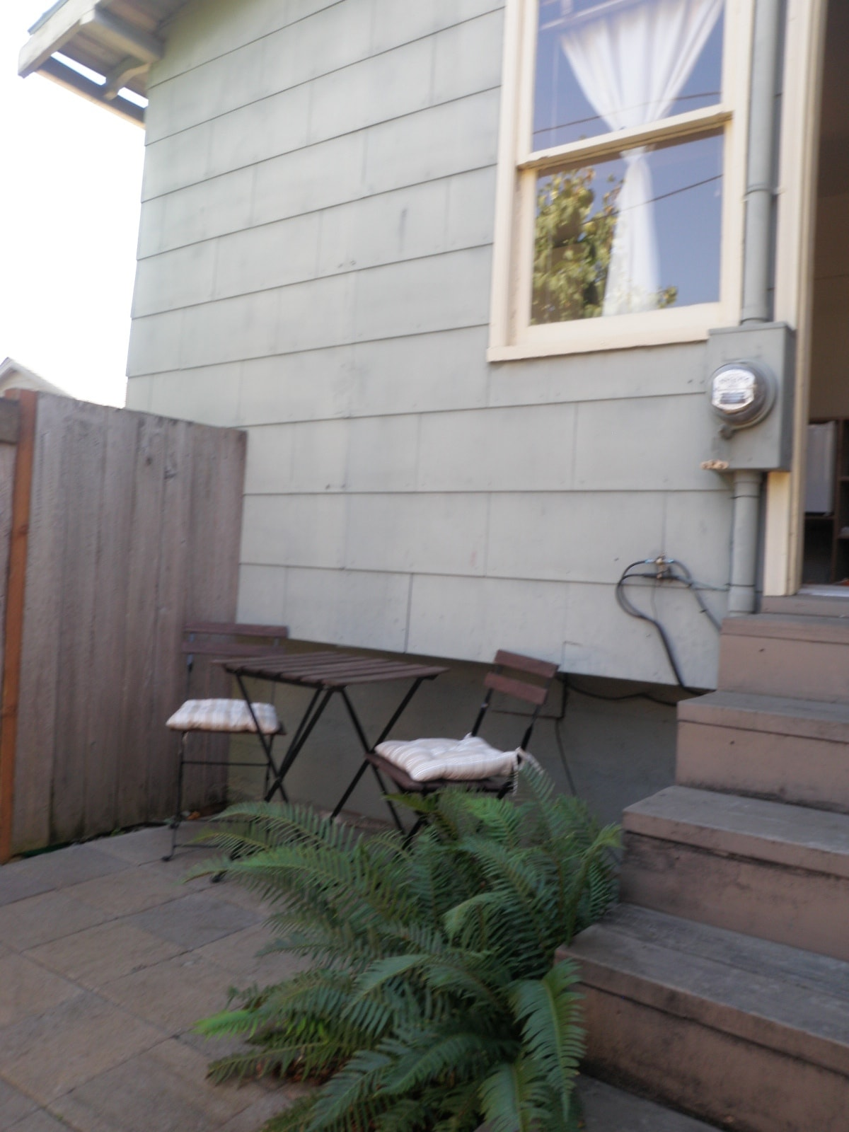 Private patio and entrance. Also room for bikes in enclosed patio.