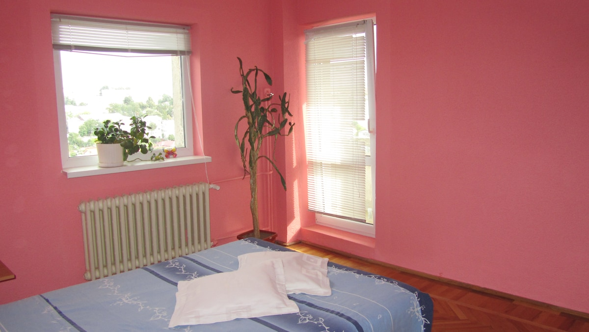 Central, room with private bathroom