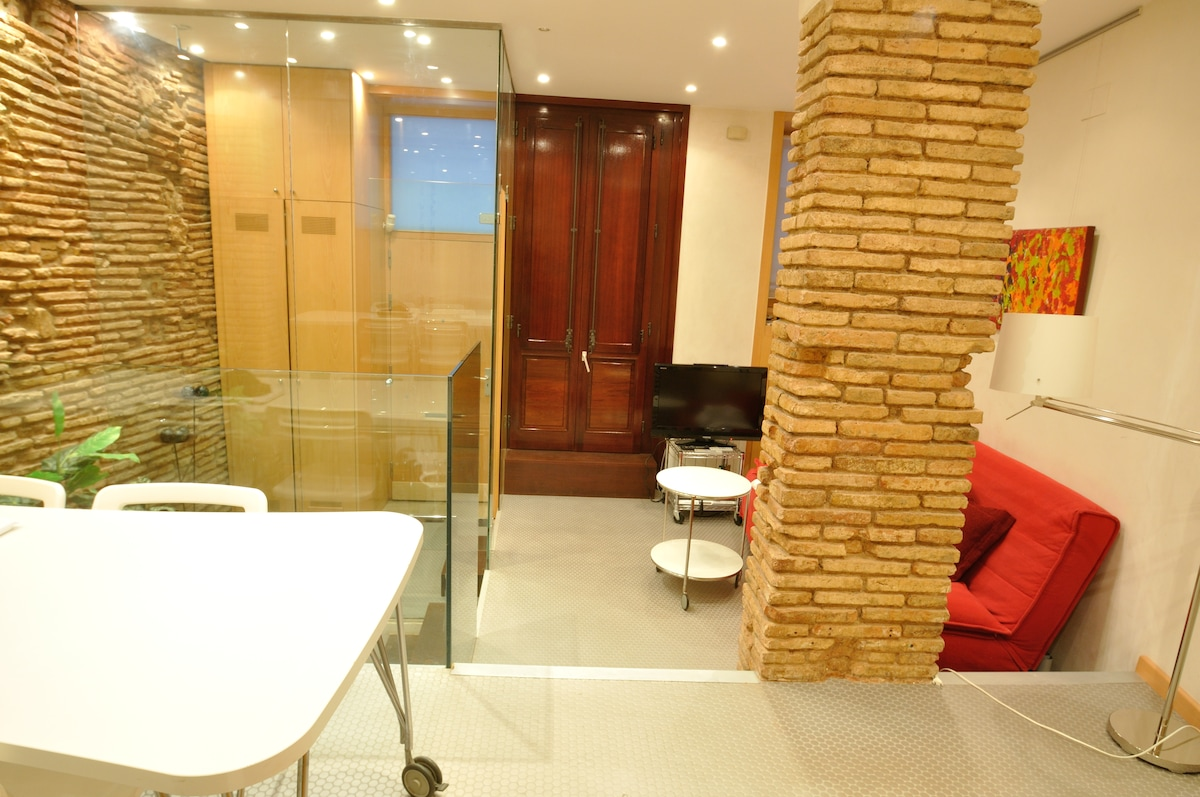 Welcome to our home. Sit comfortably and enjoy the tour around the duplex apartment.