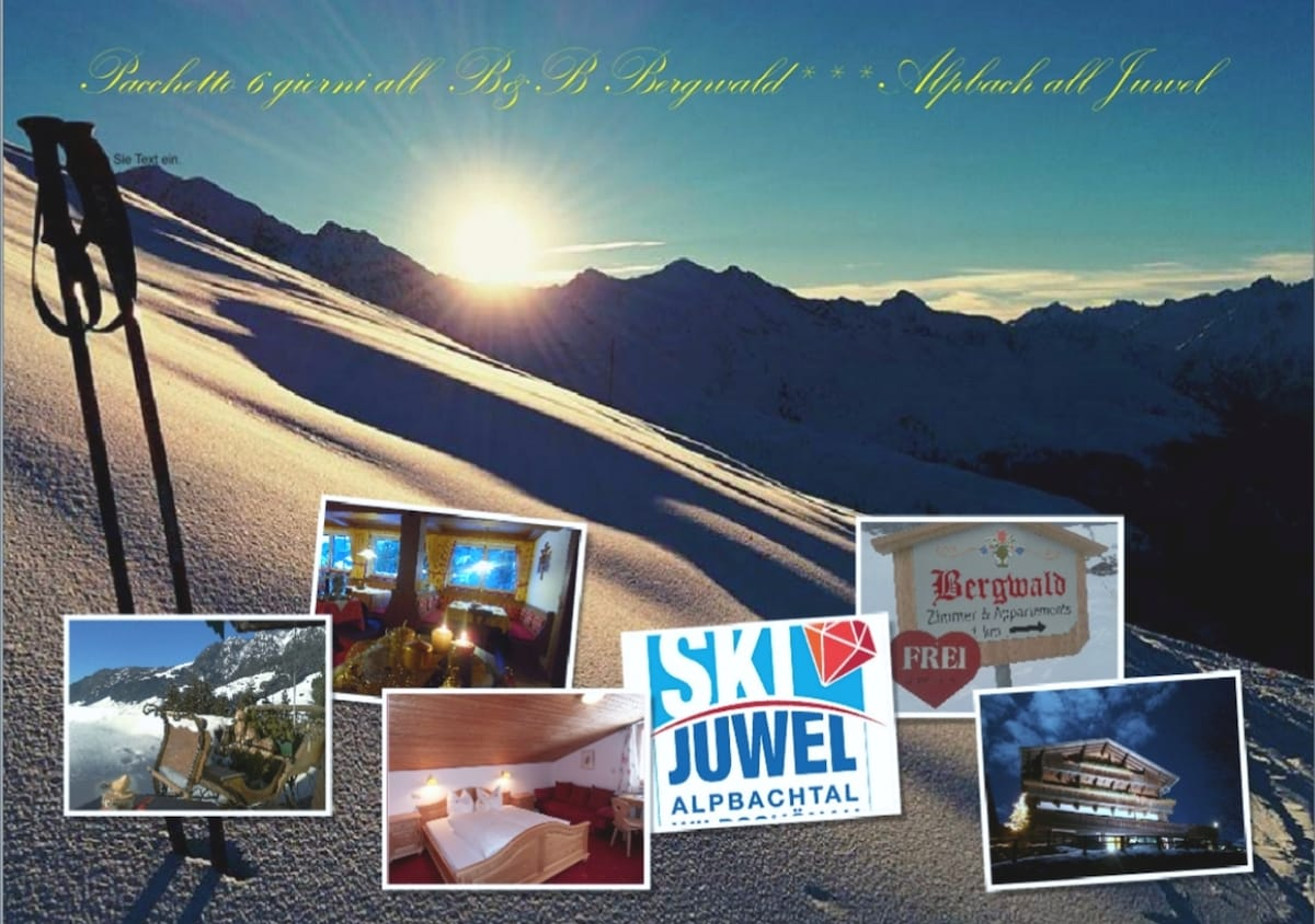great winter offers for Dec 12th until April 12th 2015 at the B&B Bergwald in Alpbach