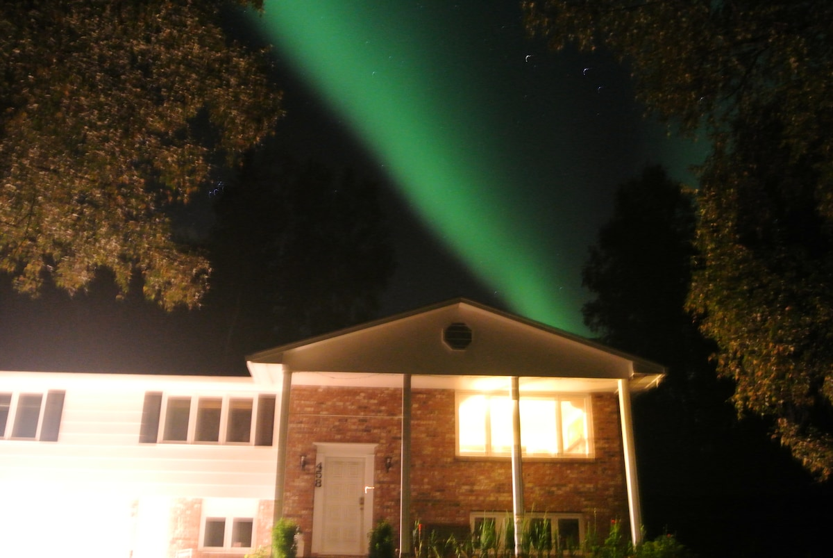 Aurora appears above in Fall
