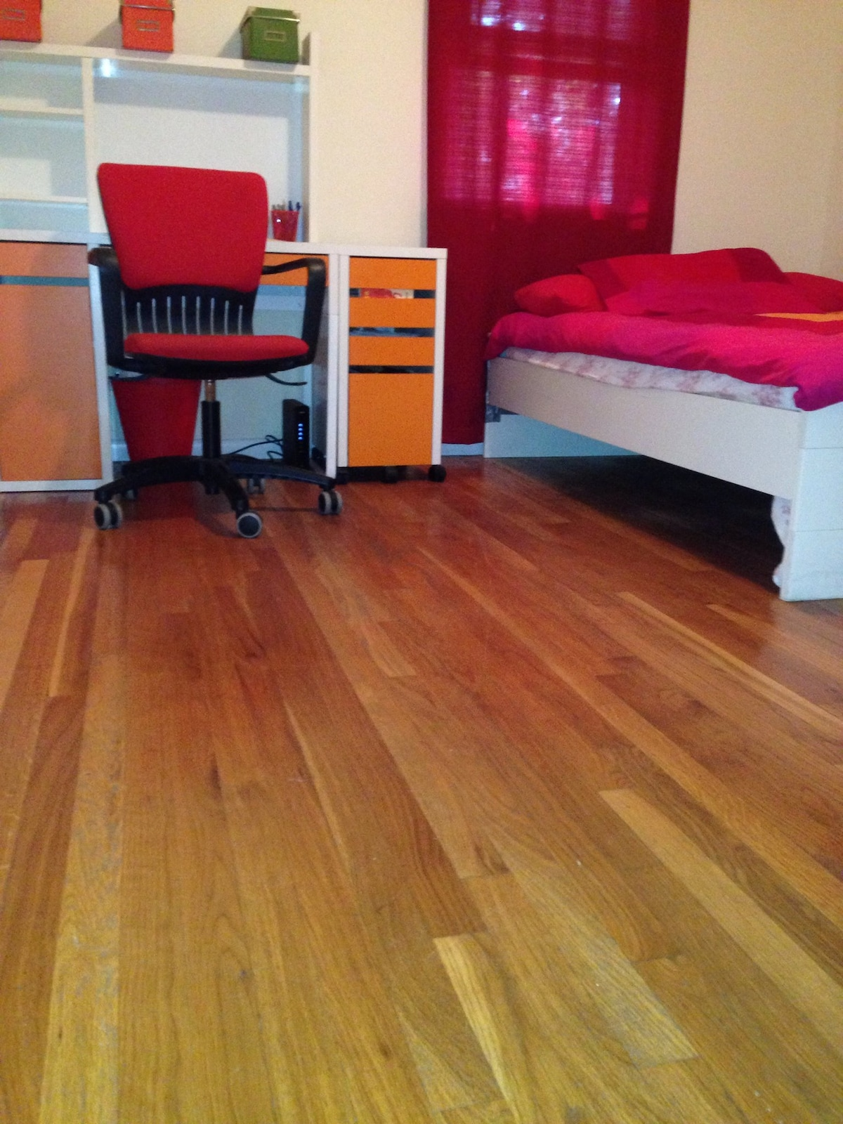 Shiny new hardwood floors