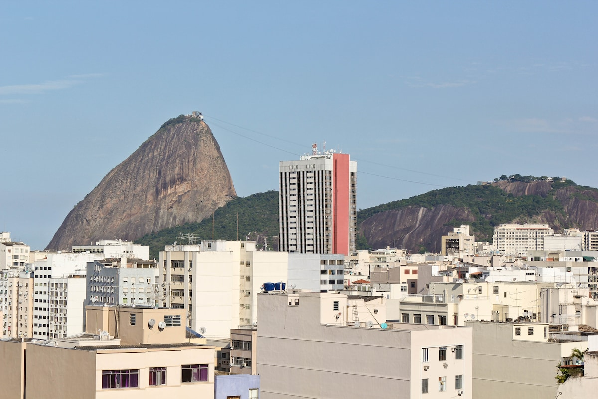 View of Sugar Loaf mountain from living room
