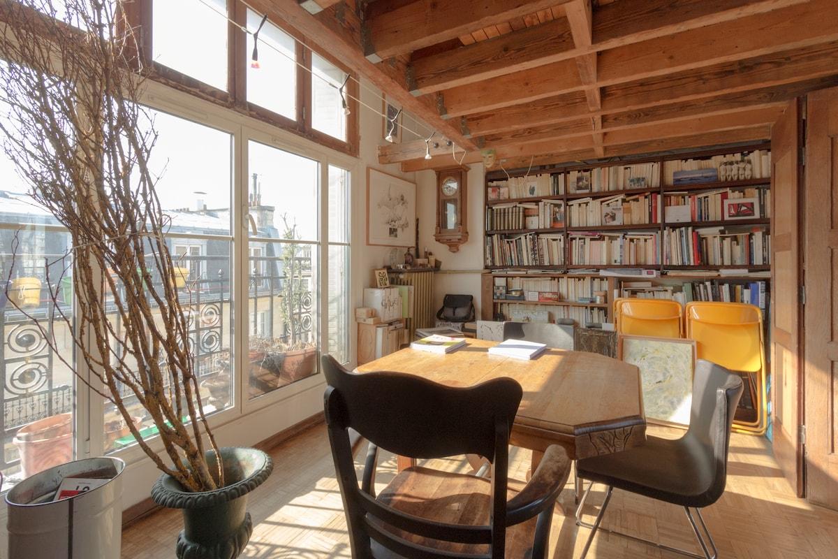 appartement loft 100 m2 , 2 niveaux