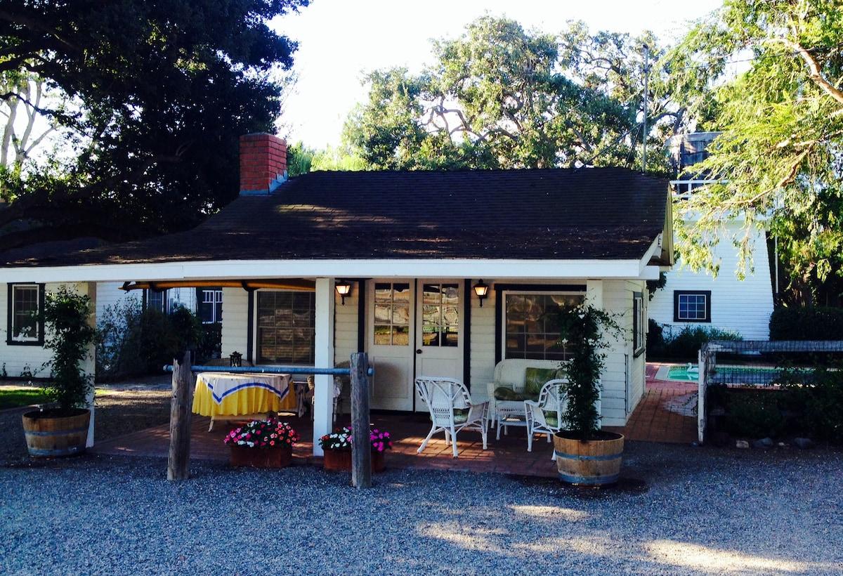 Open beam wine country guest studio