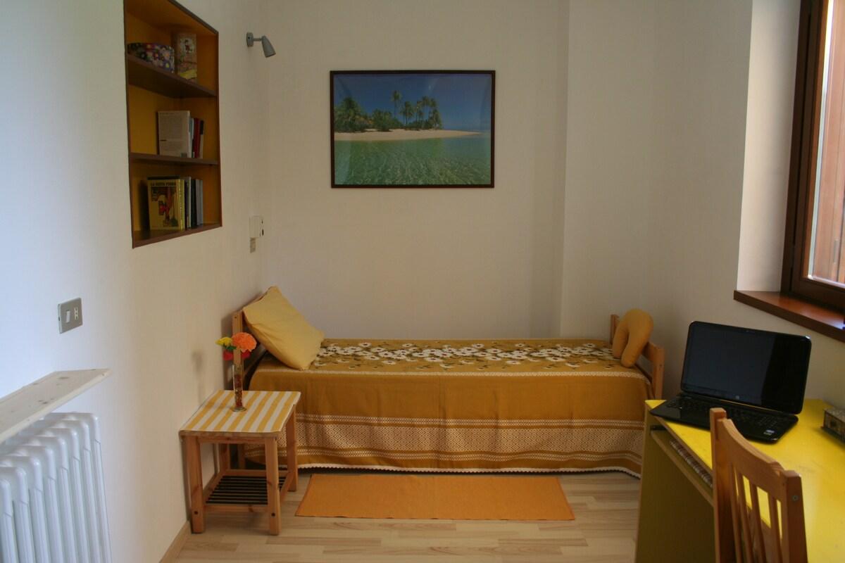 Yellow room in villa