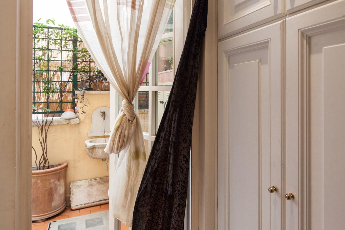 Terrace, built-in wardrobe
