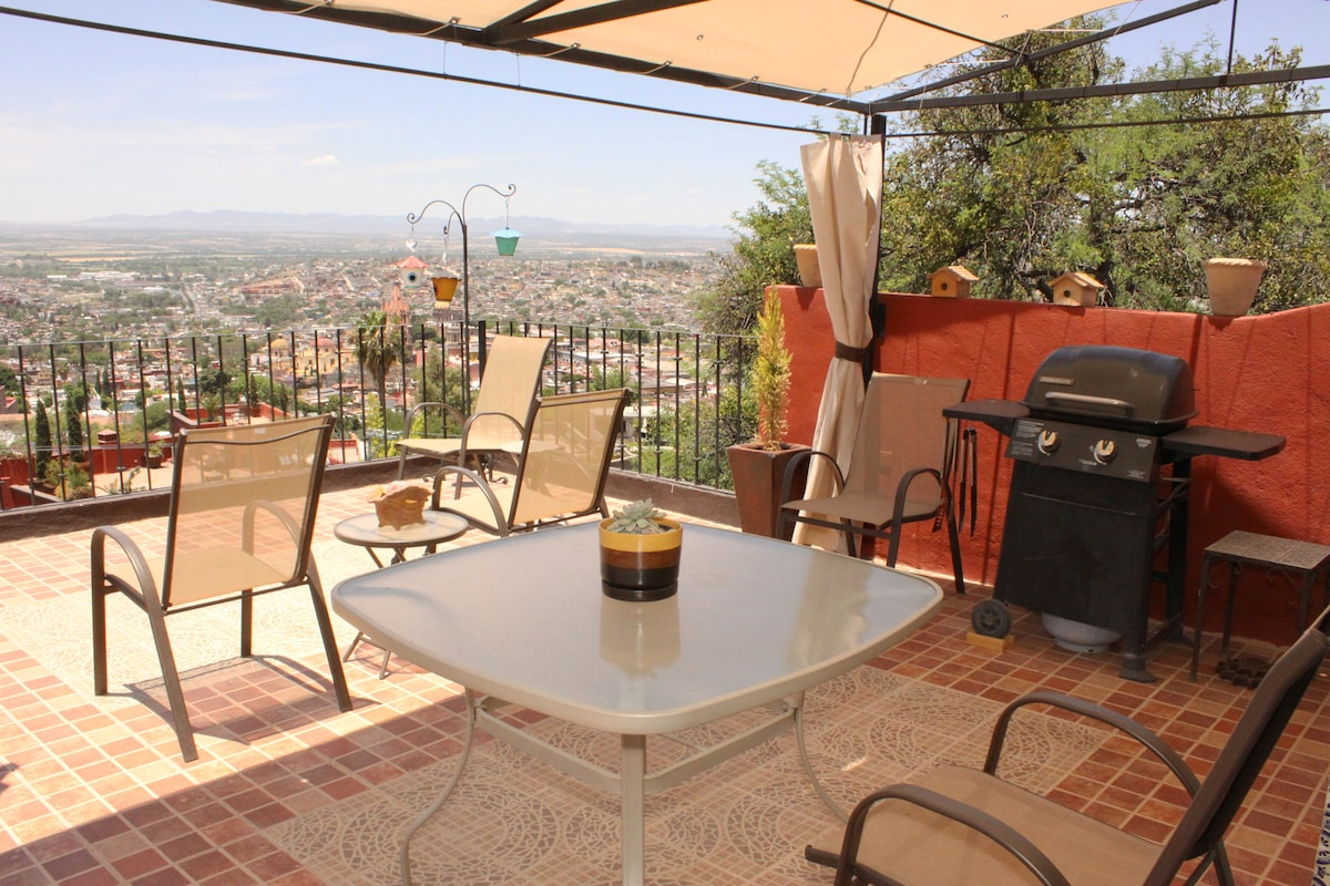Upper Patio. 180 degress of amazing view, you can see all San Miguel