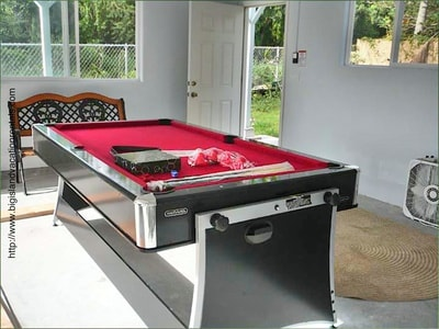Pool table in the garage along with beach items to use during your stay!