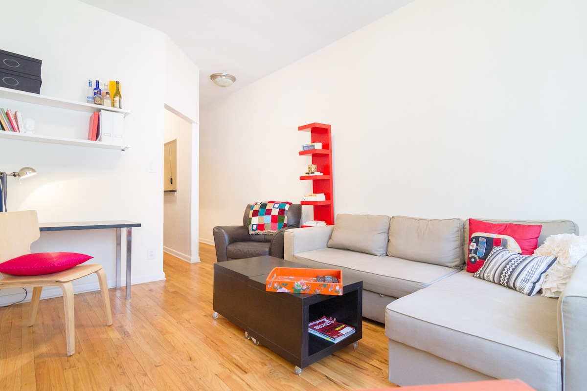 Stylish + Roomy 1BR in Midtown