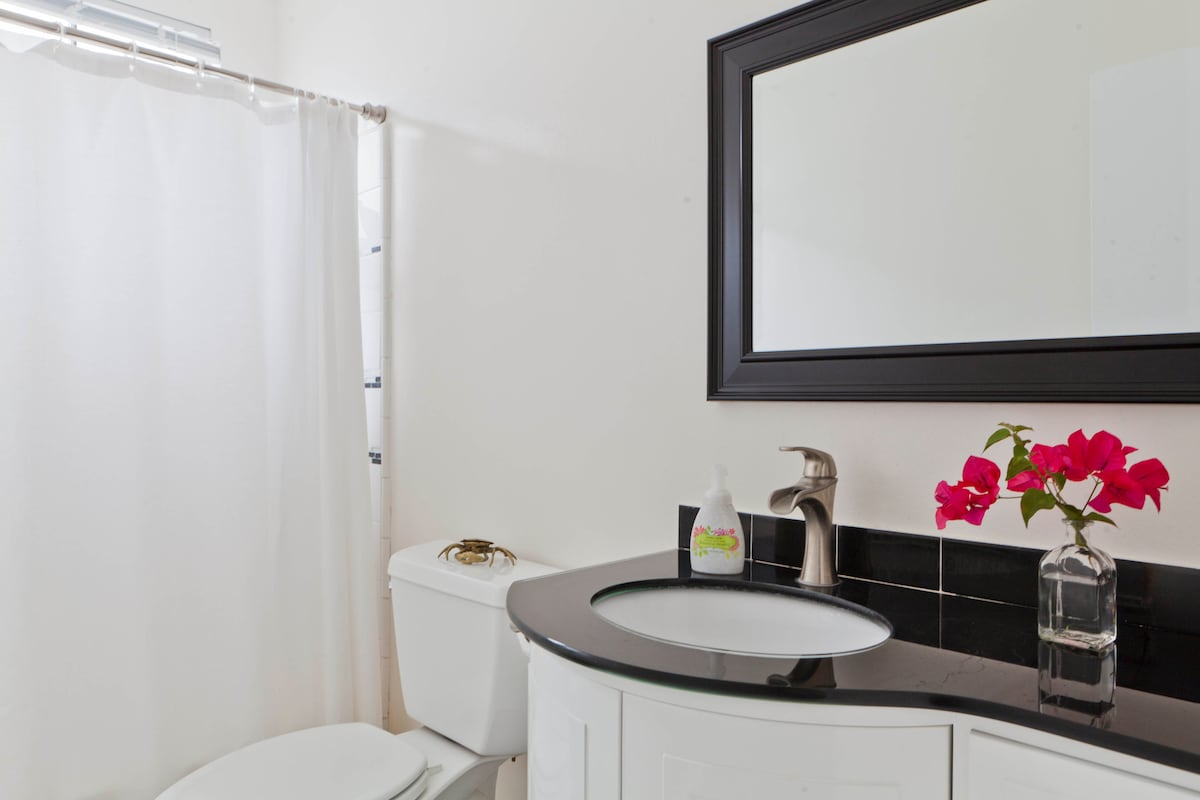 Peace of mind and body in your Private full bathroom, with bathtub just off your bedroom.
