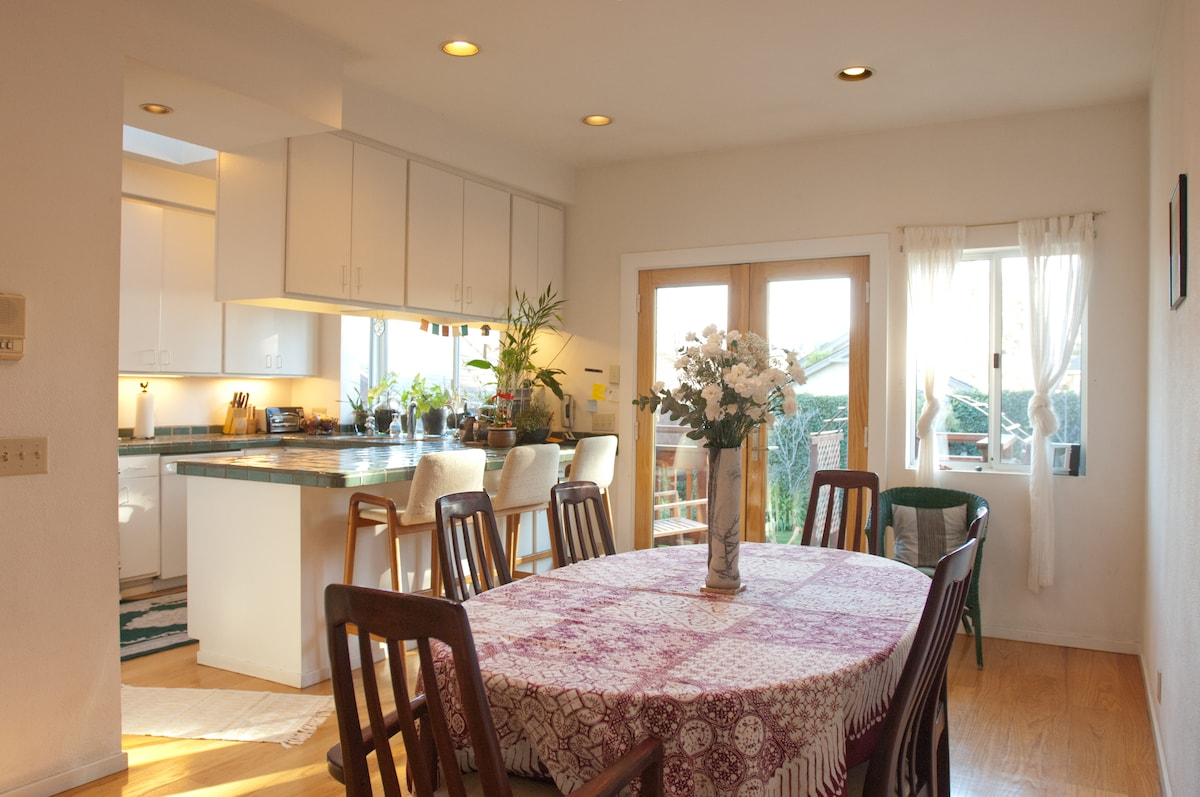 Kitchen and dining room for shared use