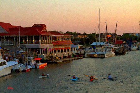 Gorgeous Shem Creek. Restaurants, bars, kayaking, stand up paddle boarding just a few minutes down the road!