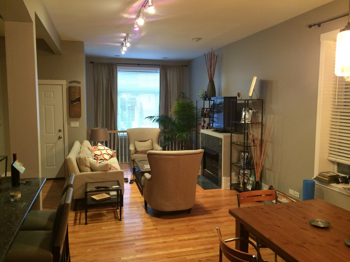 Great Lakeview Apt w/ Private Floor