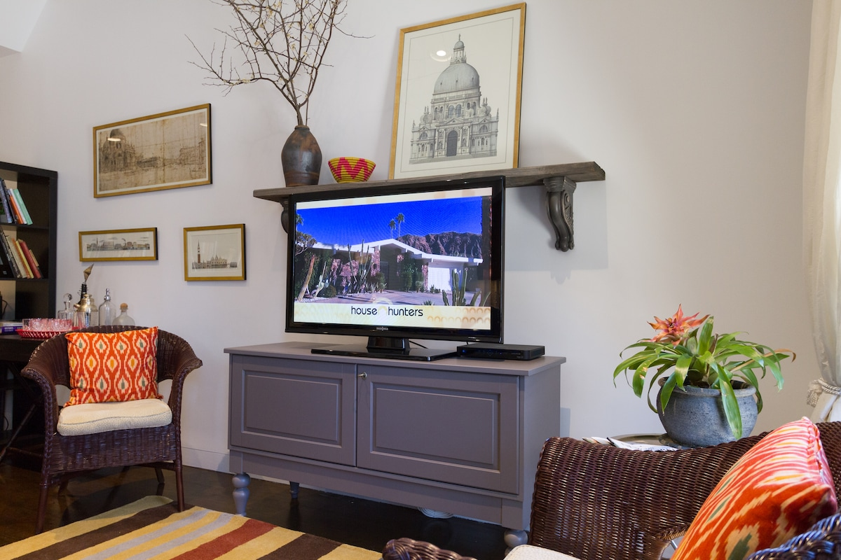"""See all Cable, Sports, News  and Movies on our 42"""" Plasma."""