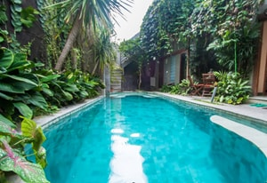See those stairs at the end of pool? They are yours to use direct from your apartment to pool
