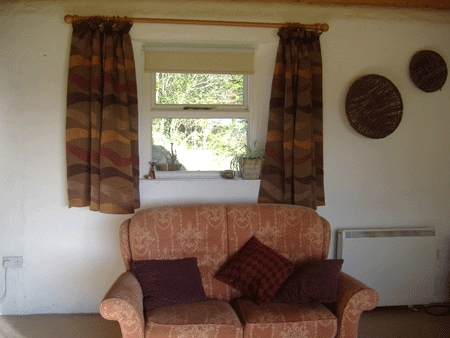 Sitting room. The living area is quite spacious.