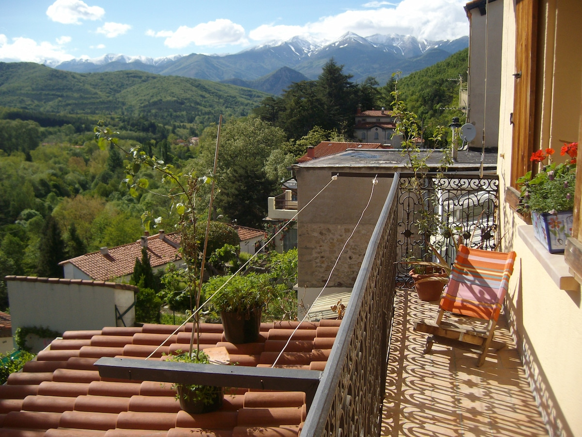 Spectacular moutain views from apartment balcony