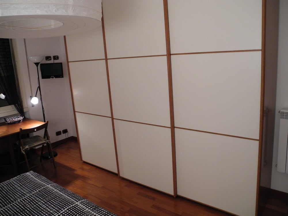 BIG closet with a lot of space and hangers for two