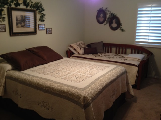 Family Bedroom: 1 New Queen, Daybed w/ Pop Up Trundle