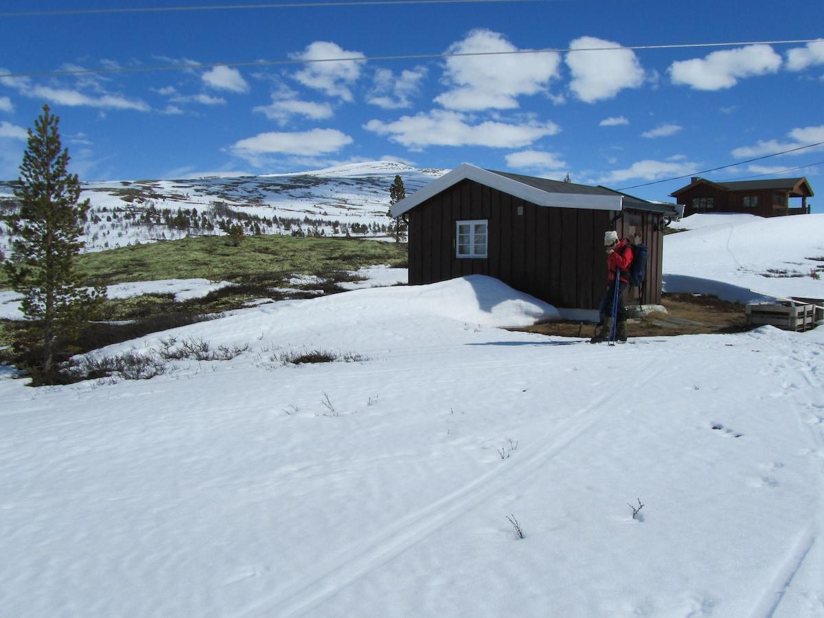 Cozy cabin in Rondane mountains.