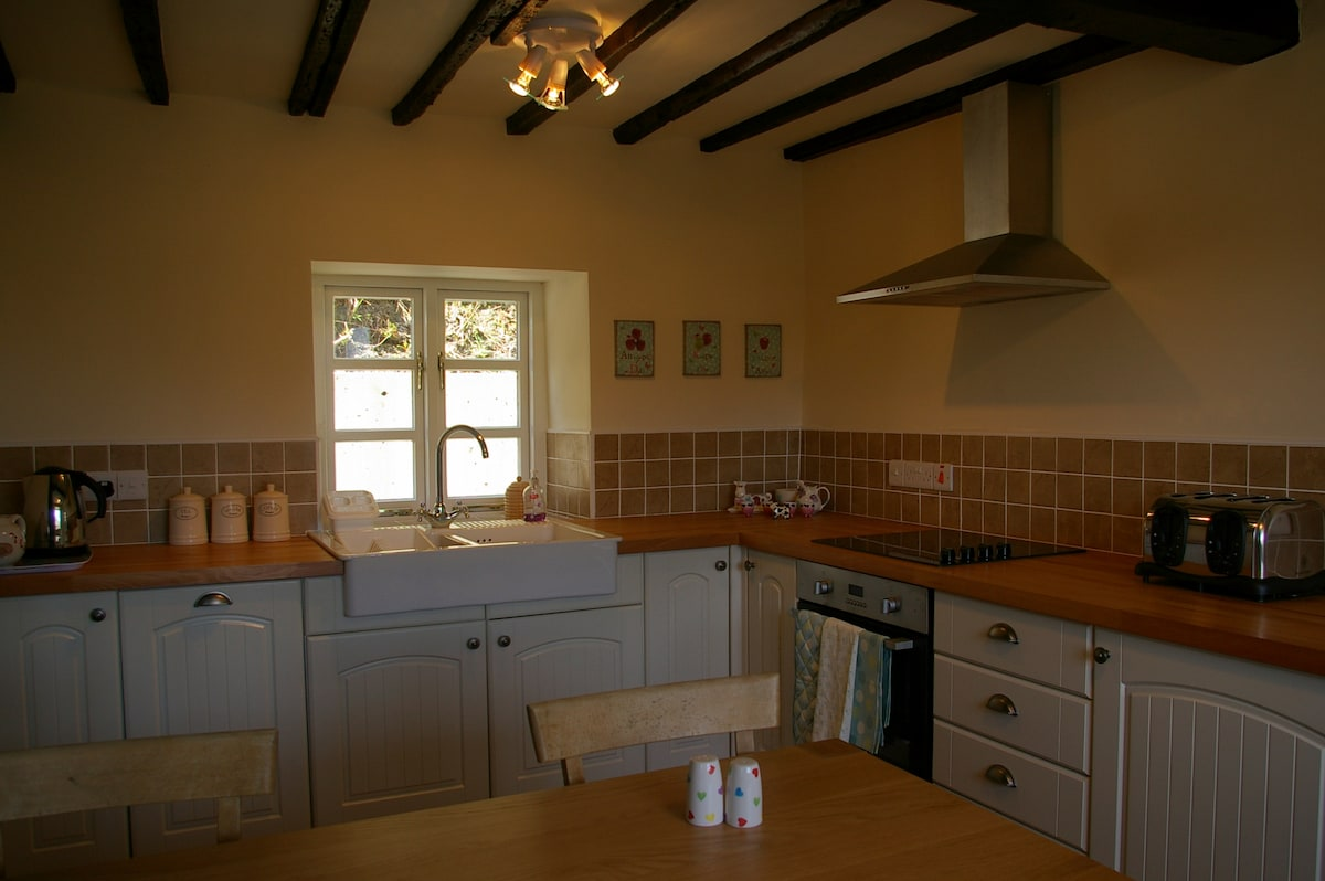 Newly fitted shaker style kitchen, dishwasher, oven, microwave and freezer included.