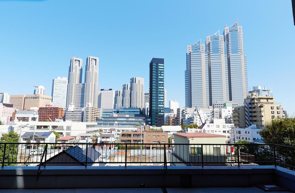 great view of the Shinjuku