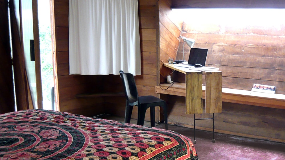 working place inside the ecolodge