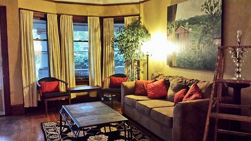 Living Room with Original Art by Anitra Handley