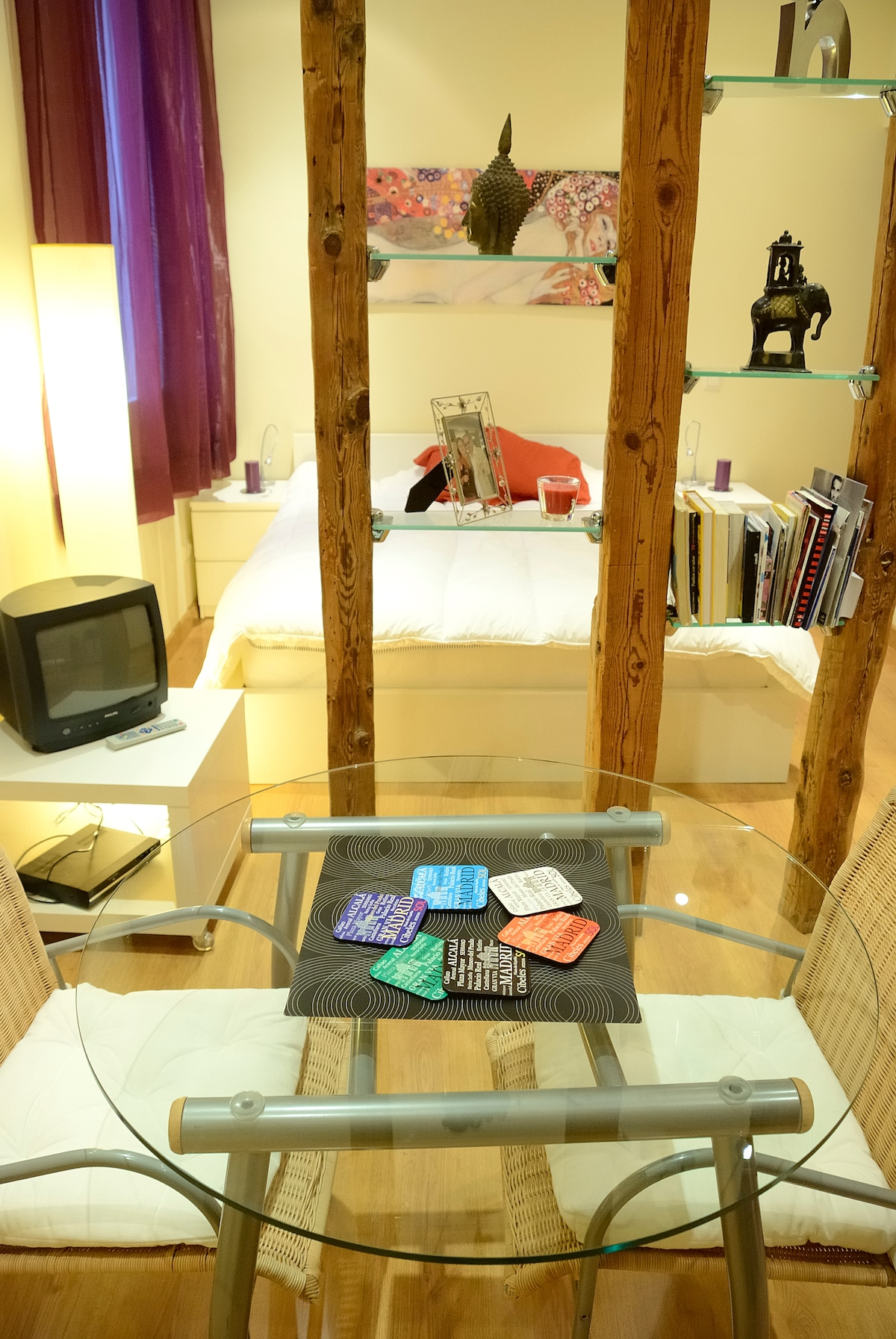 bedside tables with led reading lamps