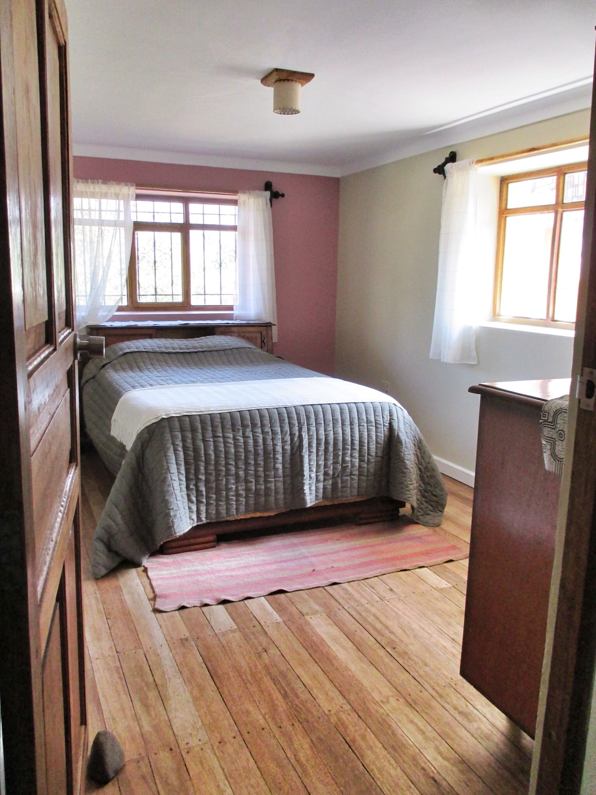 Double private room on the second floor. We have lots of storage for long term guests.