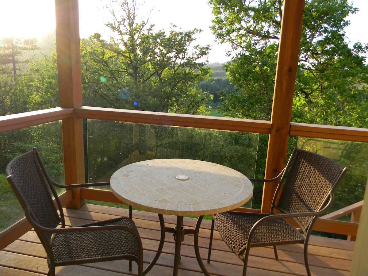 Private deck off of bedroom