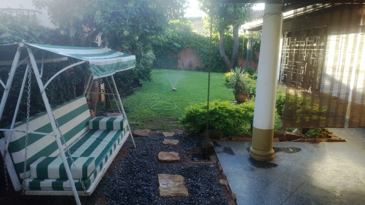 garden and mango tree