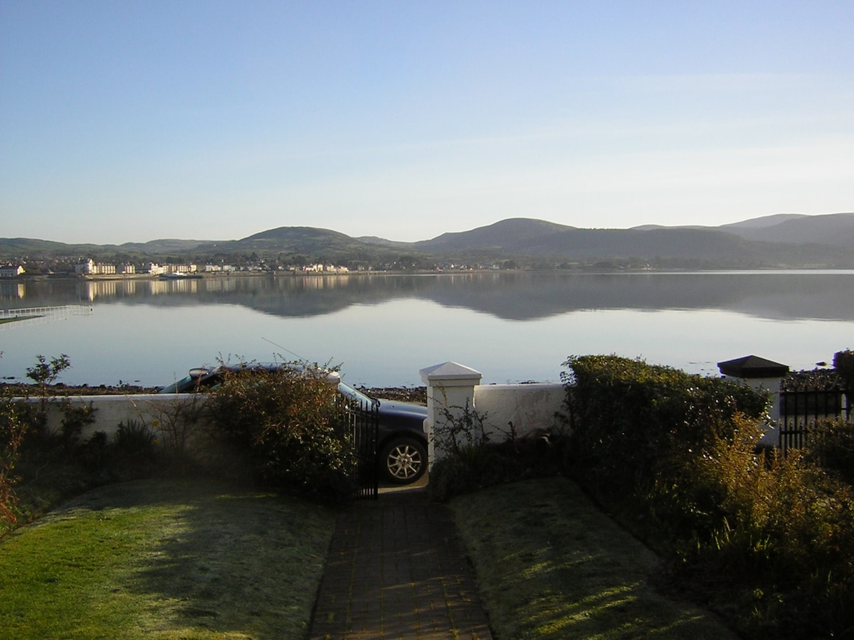 view from the front door of the house, early morning